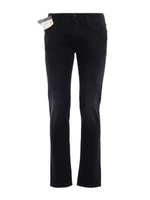 Jacob Cohen: straight leg jeans - Faded jeans with black stitching