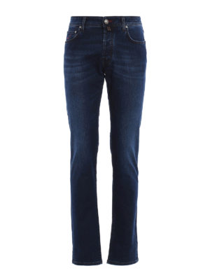 Jacob Cohen: straight leg jeans - Faded jeans with brown stitchings