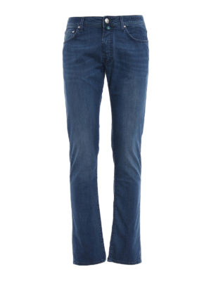 Jacob Cohen: straight leg jeans - Faded soft cotton jeans