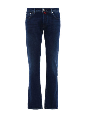 Jacob Cohen: straight leg jeans - Faded stretch denim jeans