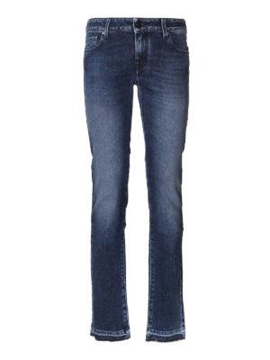 Jacob Cohen: straight leg jeans - Fringed bottom jeans