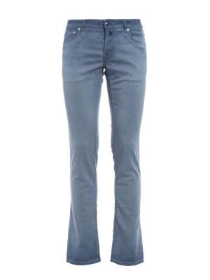 Jacob Cohen: straight leg jeans - Garment dyed cotton blend jeans