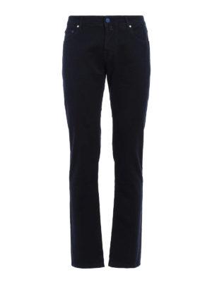 Jacob Cohen: straight leg jeans - Garment dyed cotton jeans
