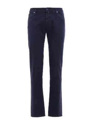 Jacob Cohen: straight leg jeans - Garment dyed stretch cotton jeans