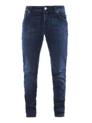 Jacob Cohen: straight leg jeans - Green label faded denim jeans