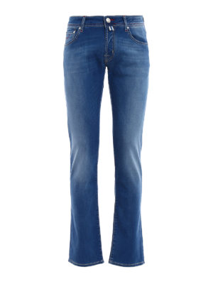 Jacob Cohen: straight leg jeans - Handkerchief detail tailored jeans