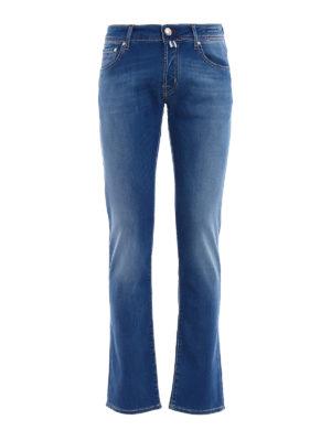 Jacob Cohen: straight leg jeans - Handkerchief detail tailored jeans