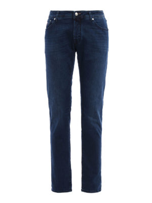 Jacob Cohen: straight leg jeans - Italian flag denim jeans
