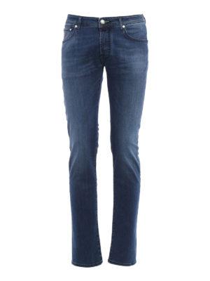 Jacob Cohen: straight leg jeans - Italian flag denim jeans