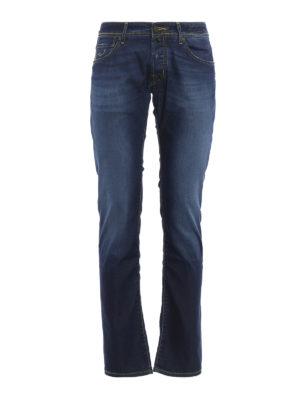 Jacob Cohen: straight leg jeans - J622 camouflage print denim jeans