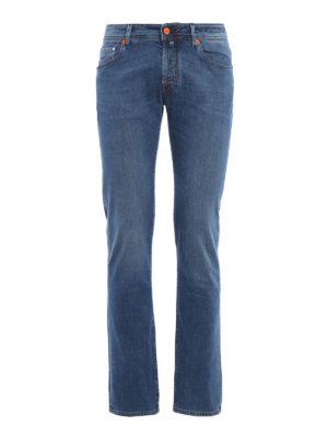 Jacob Cohen: straight leg jeans - J622 contrasting details jeans