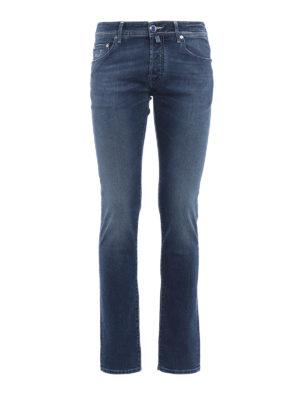 Jacob Cohen: straight leg jeans - J622 dandelion print denim jeans