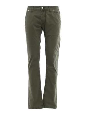 Jacob Cohen: straight leg jeans - Kaky stretch cotton jeans