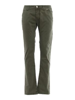 Jacob Cohen: straight leg jeans - Kaky stretch cotton jeans