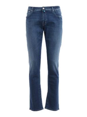 Jacob Cohen: straight leg jeans - Medium wash denim five pocket jeans
