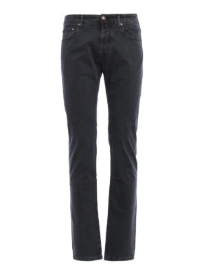 Jacob Cohen: straight leg jeans - Micro patterned jeans
