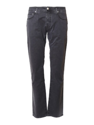 Jacob Cohen: straight leg jeans - Micro patterned tailored jeans