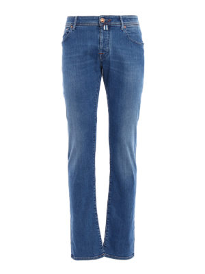 Jacob Cohen: straight leg jeans - Natural indigo dyed tailored jeans
