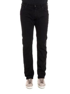 Jacob Cohen: straight leg jeans online - Black stretch denim jeans