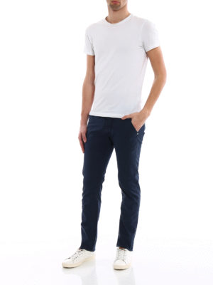 Jacob Cohen: straight leg jeans online - Blue logo label detailed jeans