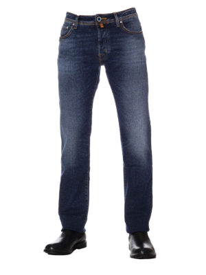 Jacob Cohen: straight leg jeans online - Blue stretch denim cotton jeans