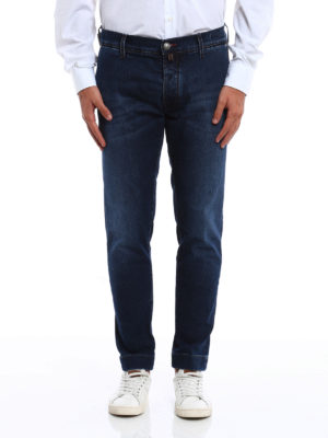 Jacob Cohen: straight leg jeans online - Chino style faded jeans