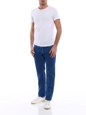 Jacob Cohen: straight leg jeans online - Contrasting stitching denim jeans