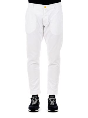 Jacob Cohen: straight leg jeans online - Cotton crop jeans