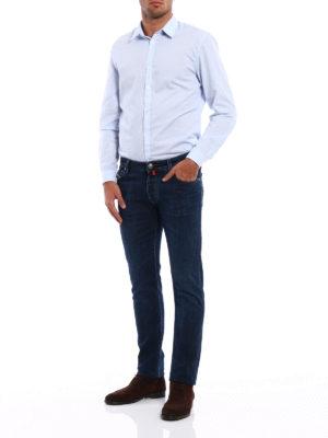 Jacob Cohen: straight leg jeans online - Cotton jeans with handkerchief