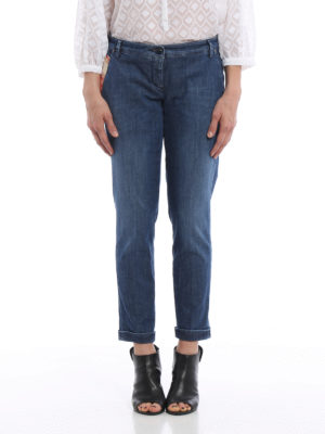 Jacob Cohen: straight leg jeans online - Crop chino jeans