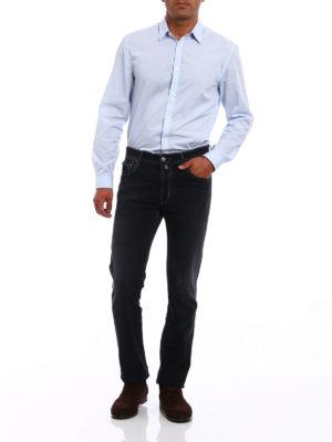 Jacob Cohen: straight leg jeans online - Faded black denim jeans