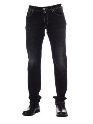 Jacob Cohen: straight leg jeans online - Faded dark wash denim jeans