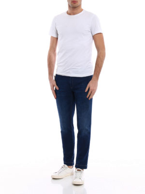 Jacob Cohen: straight leg jeans online - Faded denim chino-style jeans