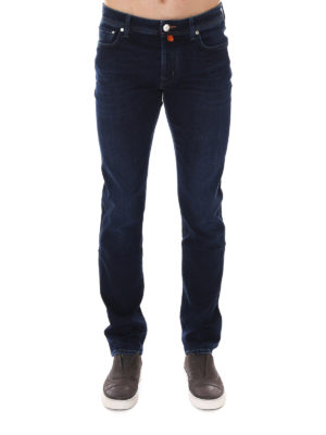 Jacob Cohen: straight leg jeans online - Faded denim jeans