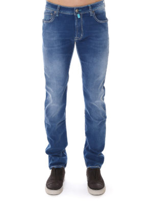 Jacob Cohen: straight leg jeans online - Faded denim tailored jeans