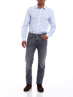 Jacob Cohen: straight leg jeans online - Faded grey denim jeans
