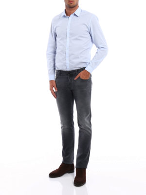 Jacob Cohen: straight leg jeans online - Faded jeans with black stitching