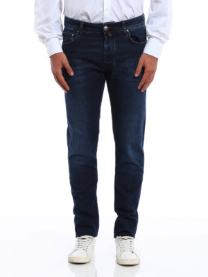 Jacob Cohen: straight leg jeans online - Faded jeans with brown stitchings
