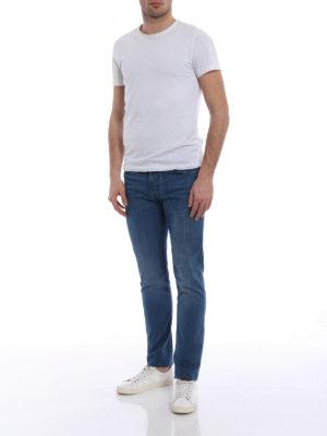 Jacob Cohen: straight leg jeans online - Faded soft cotton jeans