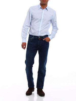 Jacob Cohen: straight leg jeans online - Faded stretch denim jeans