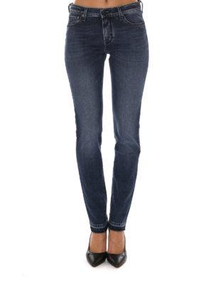 Jacob Cohen: straight leg jeans online - Fringed bottom jeans