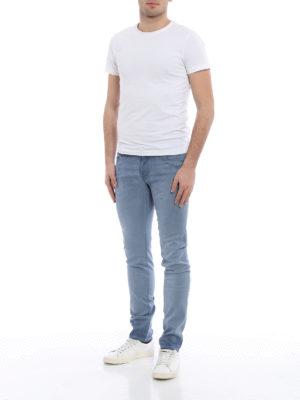 Jacob Cohen: straight leg jeans online - Garment dyed cotton blend jeans