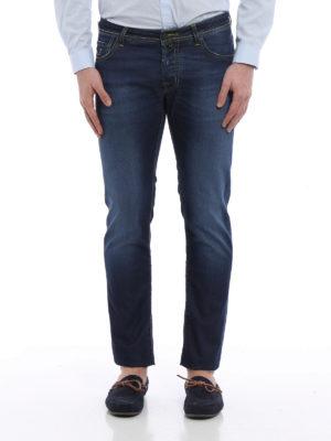 Jacob Cohen: straight leg jeans online - J622 camouflage print denim jeans