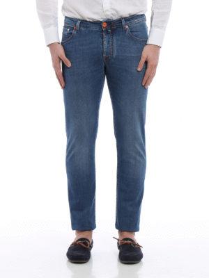 Jacob Cohen: straight leg jeans online - J622 contrasting details jeans