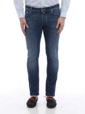Jacob Cohen: straight leg jeans online - J622 dandelion print denim jeans