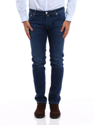 Jacob Cohen: straight leg jeans online - Jet Set tailored jeans