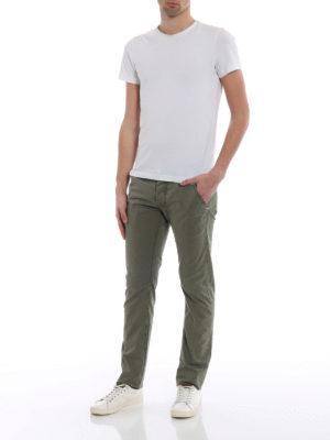 Jacob Cohen: straight leg jeans online - Kaky stretch cotton jeans