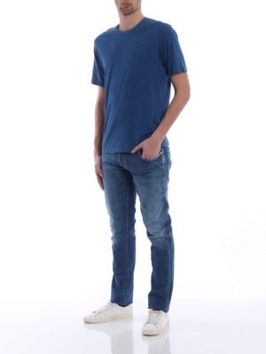 Jacob Cohen: straight leg jeans online - Medium wash denim five pocket jeans