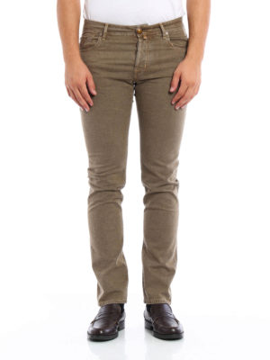 Jacob Cohen: straight leg jeans online - Micro patterned jeans