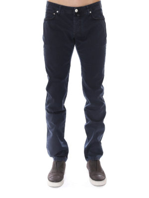 Jacob Cohen: straight leg jeans online - Micro patterned tailored jeans